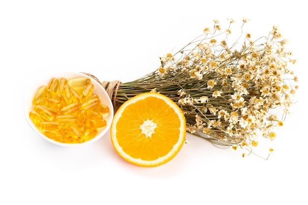 Kamillenblüten und hausgemachte kosmetik
