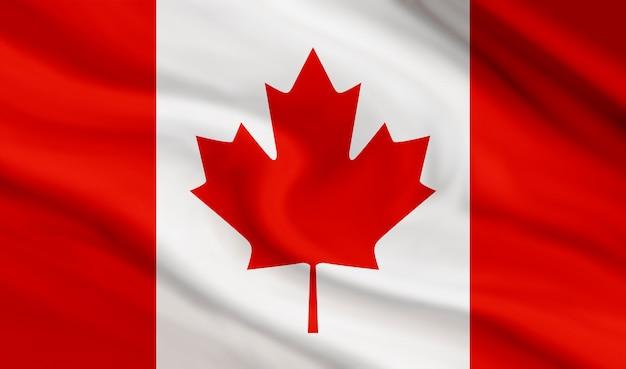 Kanada-flagge des segeltuchbeschaffenheitshintergrundes