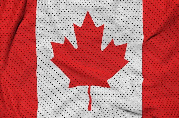 Kanada-flagge gedruckt auf einem polyester-nylonnetz