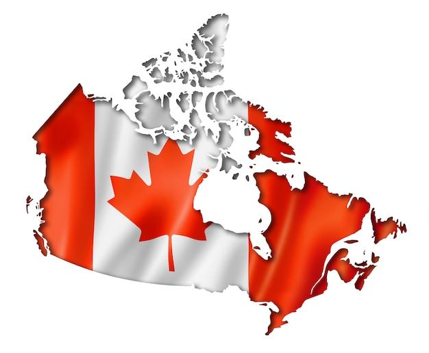 Kanadische flagge karte
