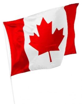 Kanadische markierungsfahne getrennt auf weiß