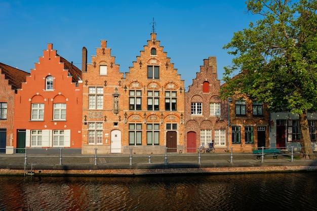 Kanal und alte häuser brügge brügge belgien