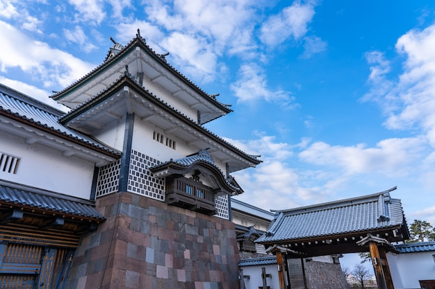 Kanazawa-schloss in kanazawa, präfektur ishikawa, japan