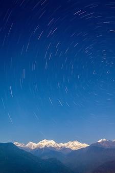 Kangchenjunga bergblick