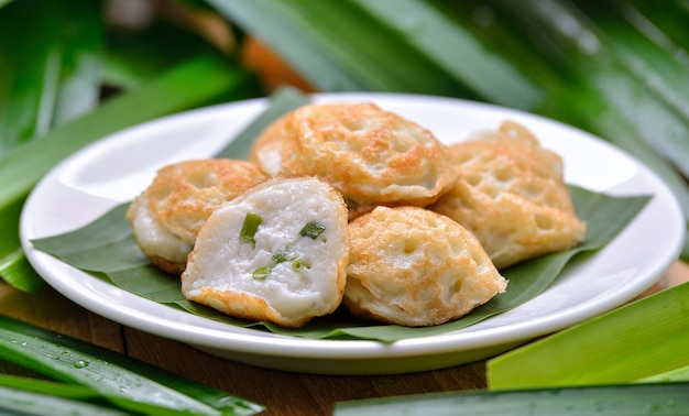 Kanom krokthai dessert aus kokosmilch