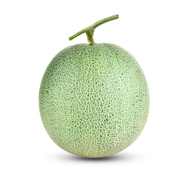 Kantalupenmelone lokalisiert auf weiß