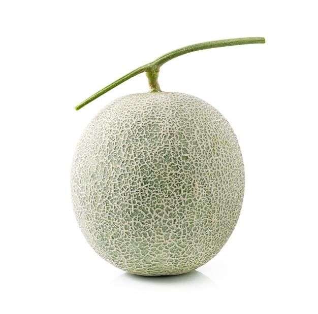 Kantalupenmelone lokalisiert auf weißem hintergrund