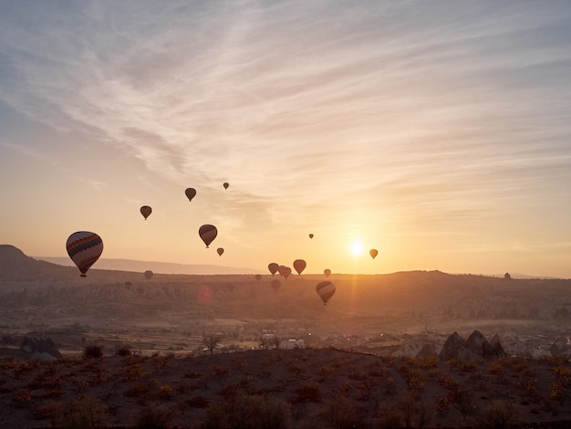 Kappadokien heißluftballon festival.