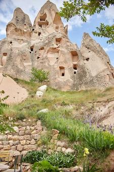 Kappadokien unterirdische stadt in den felsen, die alte stadt der steinsäulen.