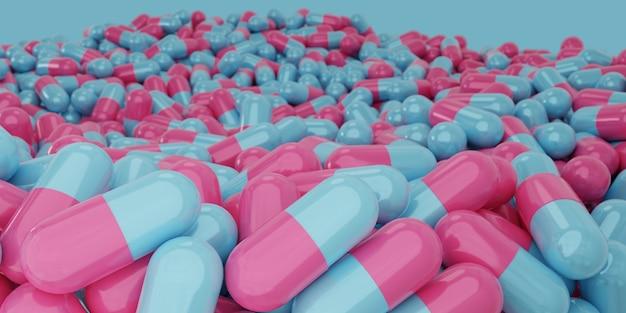 Kapseln und pillen auf medizinischem hintergrund