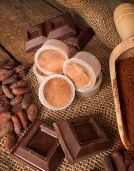 Kapseln von schokolade
