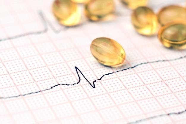 Kardiogramm und pillen