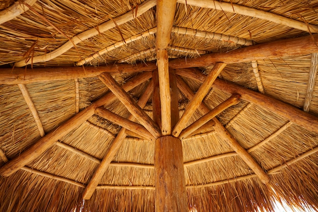 Karibisches strandschiebedach in riviera maya