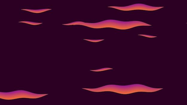 Karikaturhintergrund mit bewegungswolken, abstrakter hintergrund. luxuriöse und elegante 3d-illustration des cartoon- oder kinderthemas