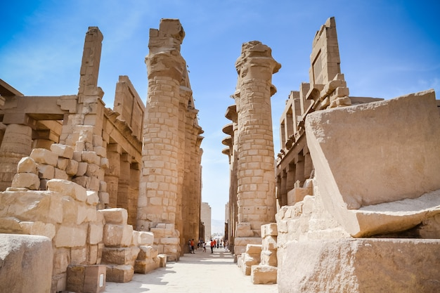 Karnak tempel. ägypten