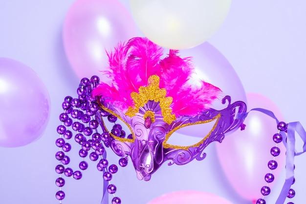 Karneval, lila maske
