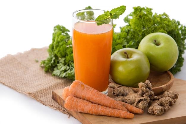 Karotte und apfel mischen smoothie