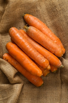 Karotten auf decke