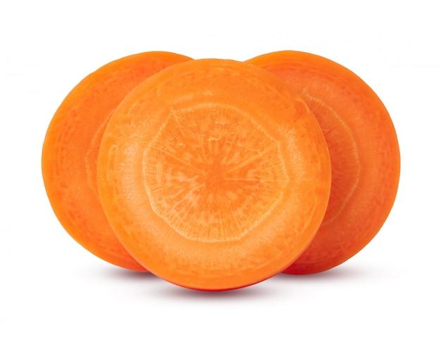 Karotten getrennt auf weißem hintergrund