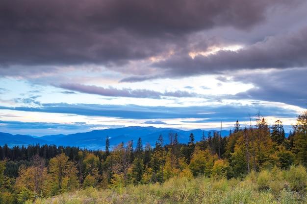 Karpaten sonnige landschaft