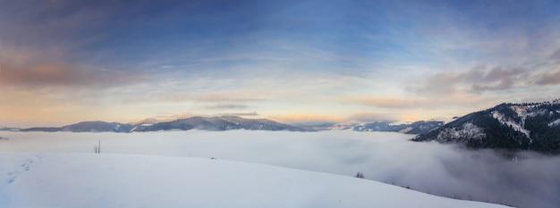 Karpaten winterlandschaft