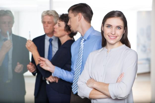 Karriere beruf menschen arbeitenden mitarbeiter