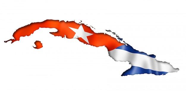 Karte der kubanischen flagge