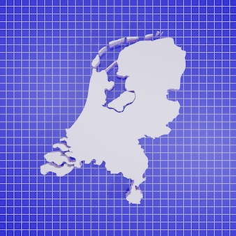 Karte des niederländischen renderings Premium Fotos
