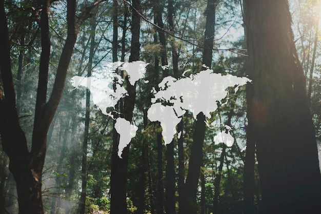 Karte reise abenteuer grafikmuster banner