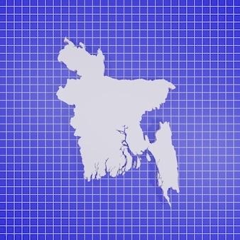 Karte von bangladesch rendering