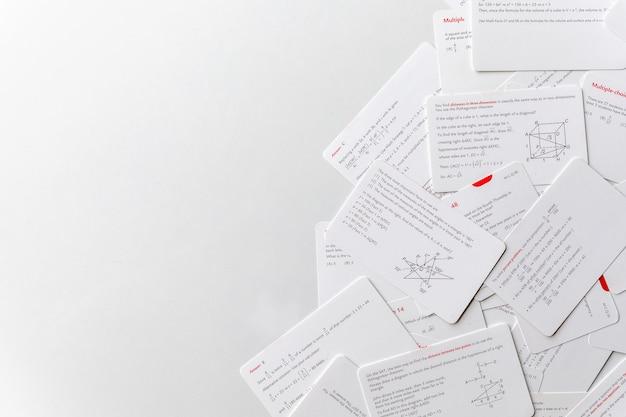 Karten zum lehren und lernen in mathematik