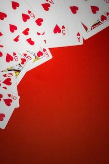 Kartenstapel benutzt als ecke