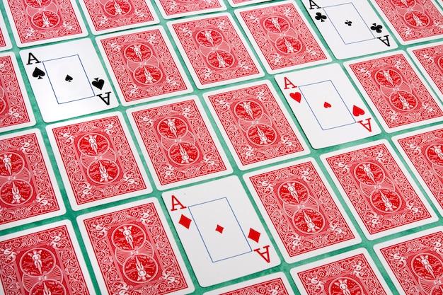 Kartenstapel umgedreht