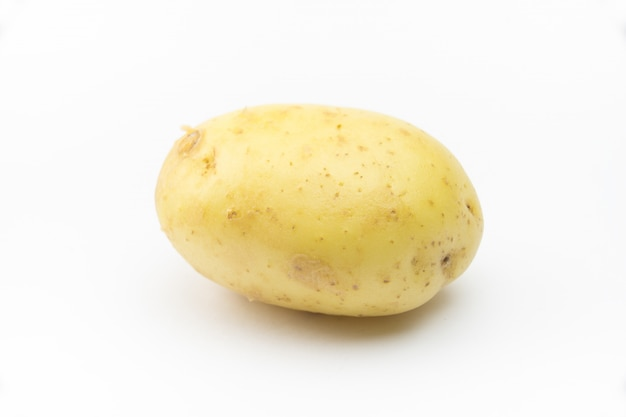 Kartoffel auf weiß