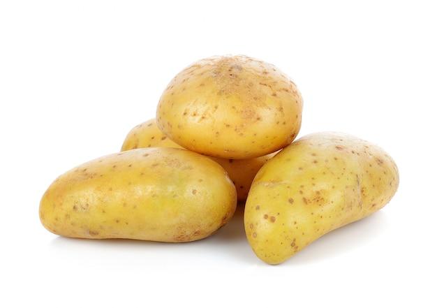 Kartoffel, isoliert auf weiss