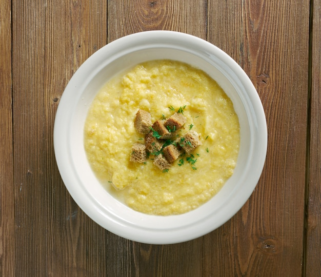 Kartoffel milch suppe - tiroler kartoffelmilchsuppe