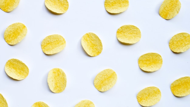Kartoffelchips draufsicht