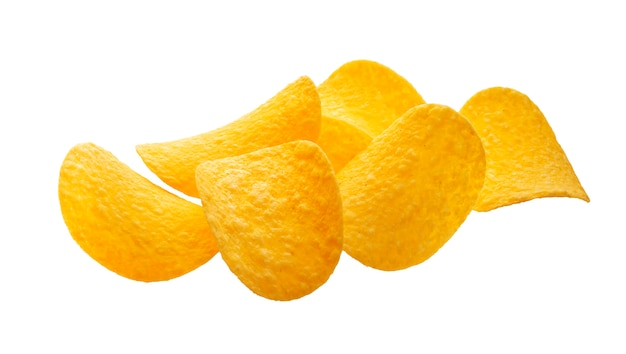 Kartoffelchips lokalisiert auf weißem hintergrund