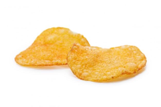Kartoffelchips lokalisiert lokalisiert auf weiß
