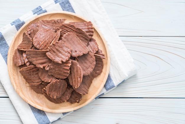 Kartoffelchips mit schokolade
