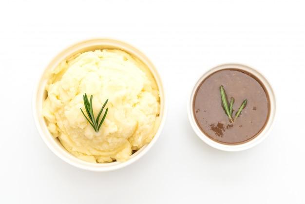 Kartoffelpüree mit sauce