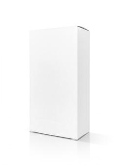 Karton aus weißem papier mit leerer verpackung