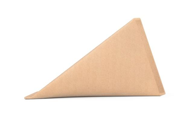 Karton dreieck box creme, saft oder milch pack mock up auf weißem hintergrund. 3d-rendering