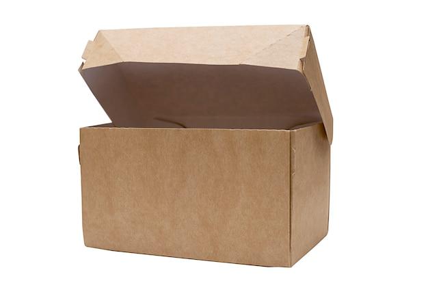 Karton für waren und geschenke auf weißem hintergrund