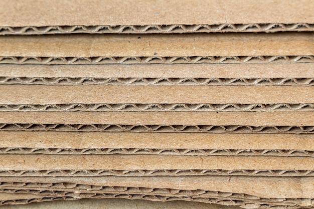 Karton, kartonschichten seitenansicht kanten textur, hintergrund nahaufnahme