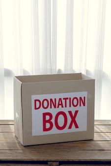 Karton spendenbox