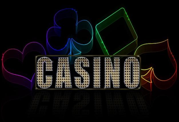 Kasinoillustration auf dem schwarzkartenspiel