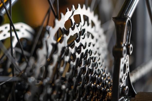 Kassettenrad hinten vom rennrad