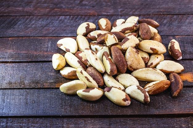 Kastanienbeschaffenheit, paranüsse, wir amazonianer, die in der weltküche verwendet werden