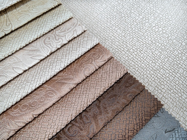 Katalog bunte stoffmuster für die möbelherstellung kollektion von möbelstoffen